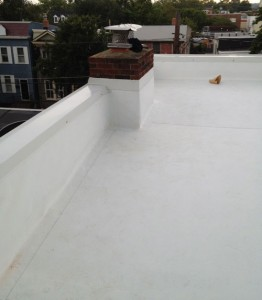 TPO roof with parapet wall