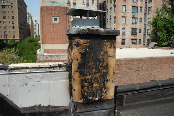 Chimney leak repair on a Brownstone Building Manhattan