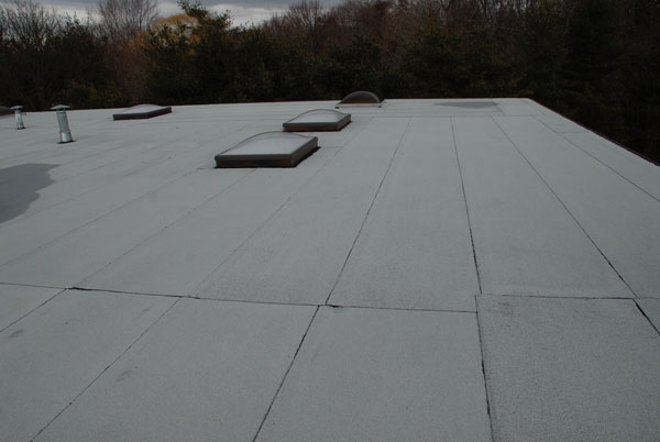 Modified Bitumen Torch down flat roof 14 years old. The best roofing system in the industry