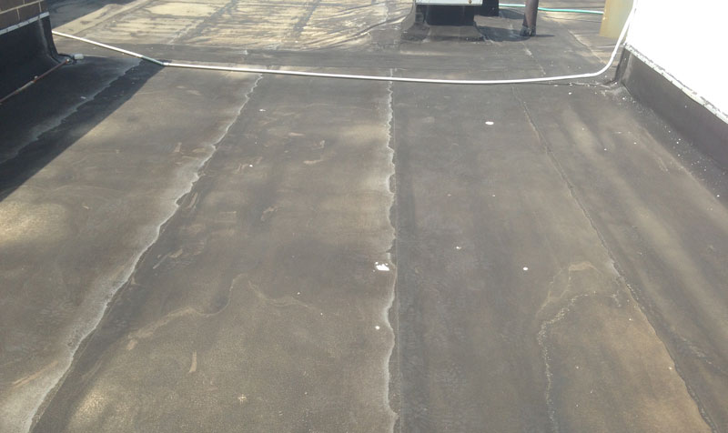 Unprotected Modified bitumen rubber roof