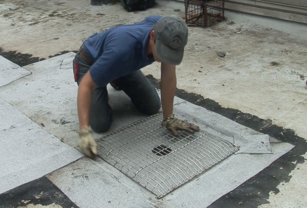 Custom made flat roof drain strainer is by far the best
